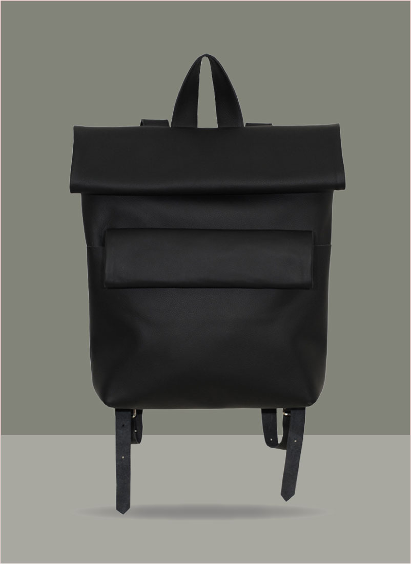 Rollitbag Double Magnet Black Front