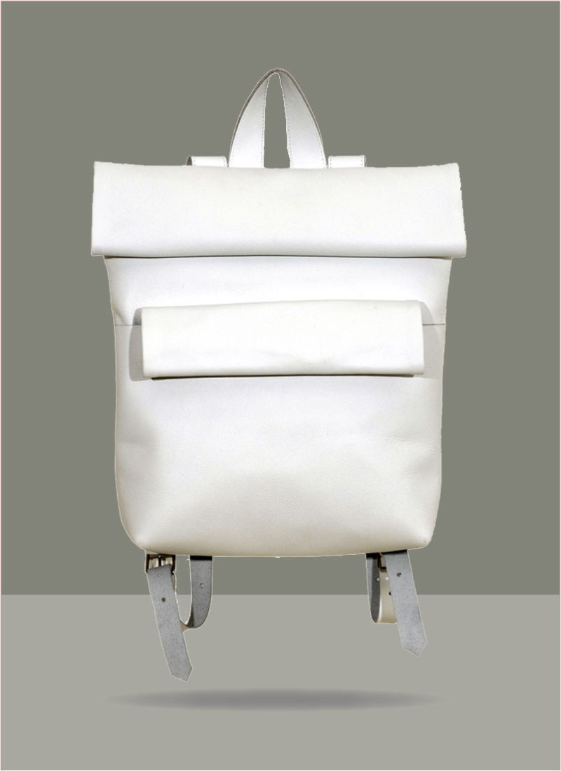 Rollitbag White Leather Double Front