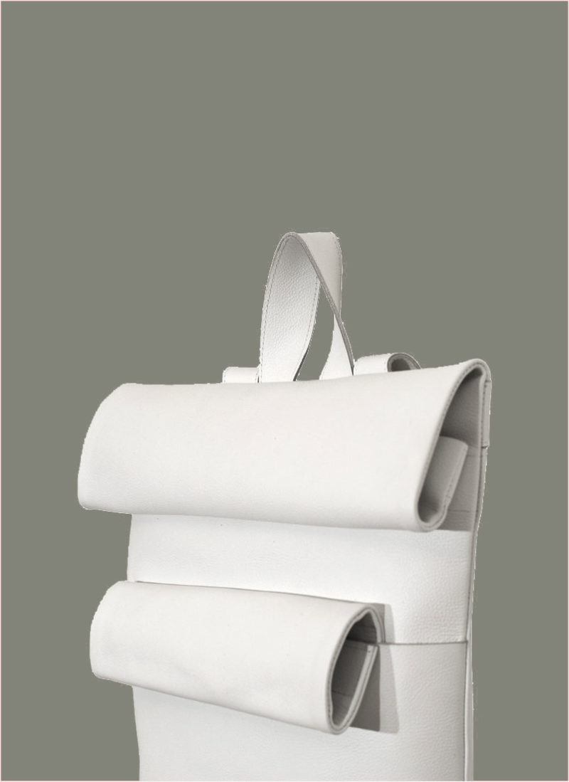 Rollitbag White Leather Double Side