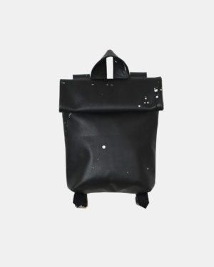 Meesdesign-rollitbag-mini-black-spattered-front